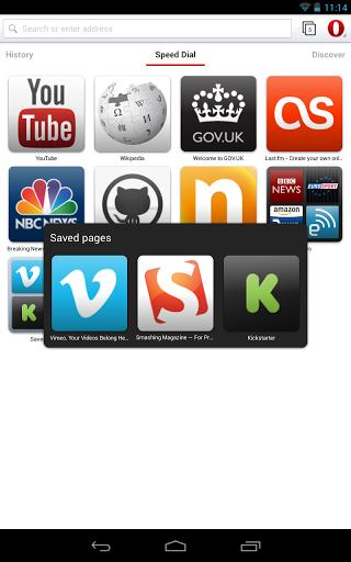 Стабильный релиз браузера Opera для Android на движке WebKit