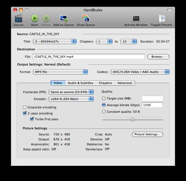 Свободное маководство: Вышел свободный видеоконвертер HandBrake 0.9.9