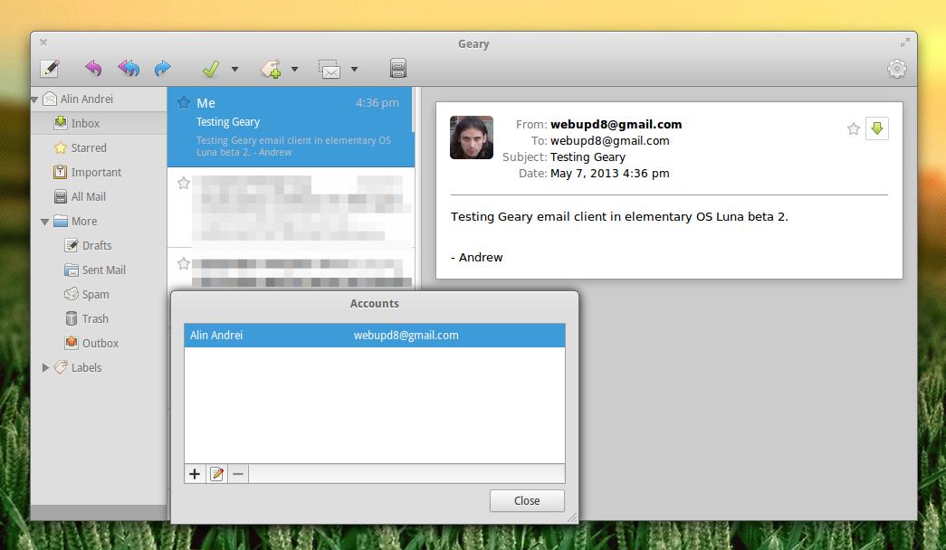 Linux: Geary - почтовый клиент