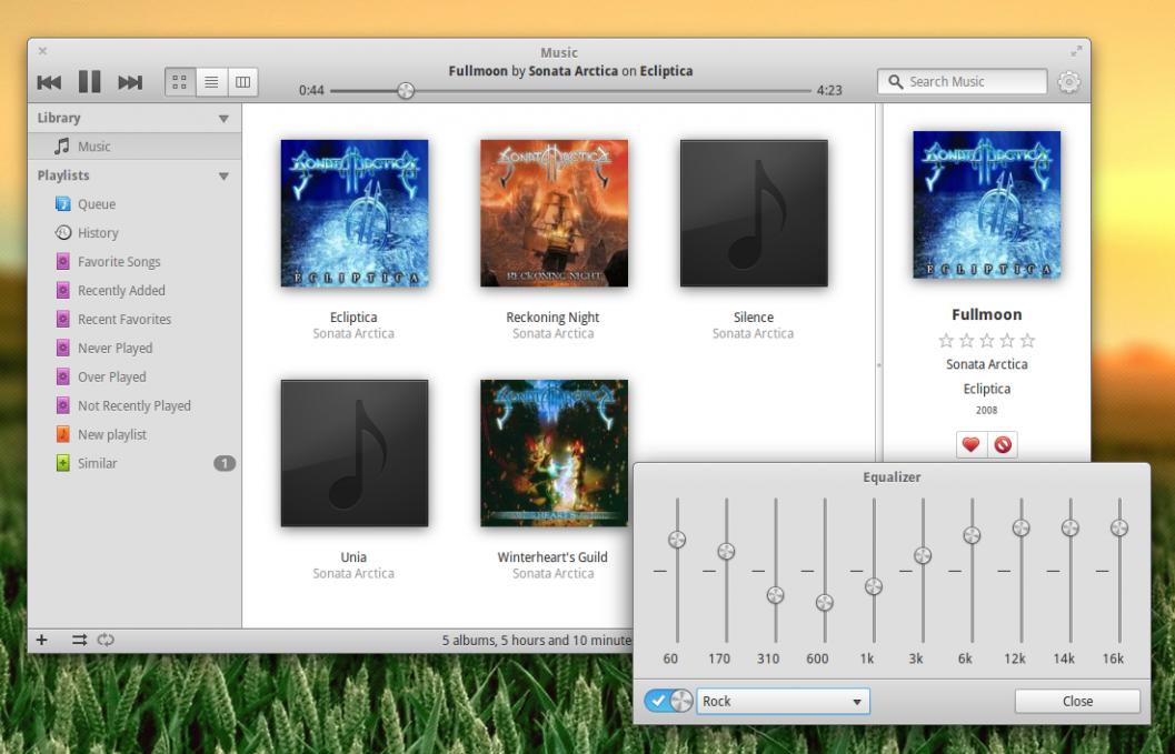 Linux: Music - музыкальный плеер