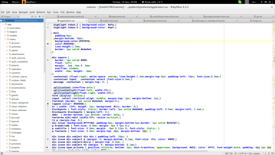 сглаживание шрифтов Fedora Rubymine